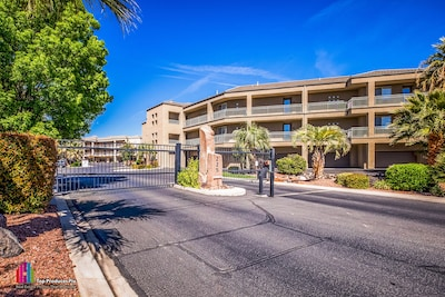 Secure gated entrance to Blackrock condos, St George, Utah