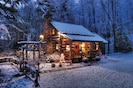 Christmas time at Little Creek Cabin