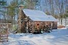 Little Creek Cabin after a fresh snow