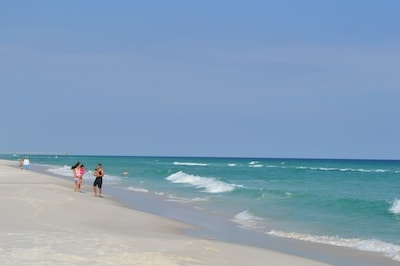 Miles of white sandy beach along the Gulf of Mexico to walk & look for shells.