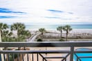 Looking from our deck to the Gulf of Mexico!