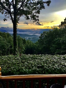 What a beautiful sunset!  (captions are comments from guests reviews)