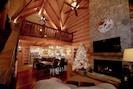 Loft, living room, dining area, kitchen.