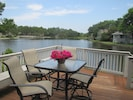 The view from the deck is outstanding. Imagine happy hour watching the sunset!