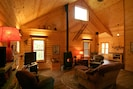 Open living and cathedral ceilings