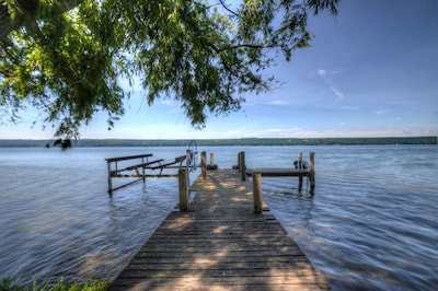 Swim, fish and boat from our dock and 220 feet of private waterfront.