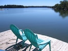 Enjoy the peace of our cove from the lower deck.