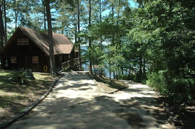 Driveway and boat ramp