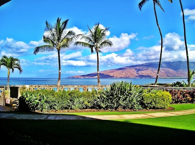 Oceanfront view from our lanai
