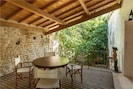 shaded private terrace