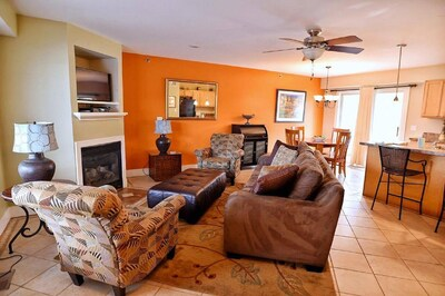 Living room & dining room.