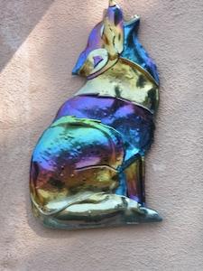 Coyote Casita  (outside glass art)