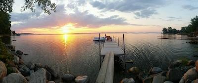 July 2015 sunrise over the dock.