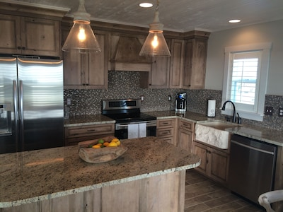 Beautiful Kitchen with farmhouse sink and all amenities