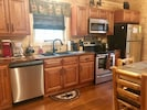 Brand New Stainless Steel Appliances Kitchen has all your cooking supplies