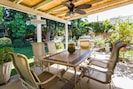 Patio dining set and stainless steel bbq grill