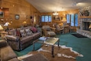 The Main Living Room with comfortable lodge furniture.