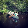 Guests sent us a photo of the fam taking the canoe out for a very short spin!