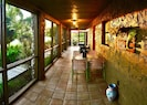 Private lana'i and entry way to your front door.