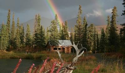 Maggie's Cabin during the annual August Rainbow Season