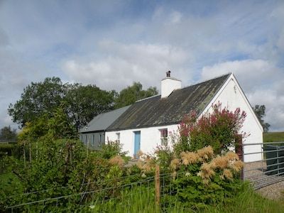 Traditional Loch Side Croft Cottage And Garden With Contemporary Extension