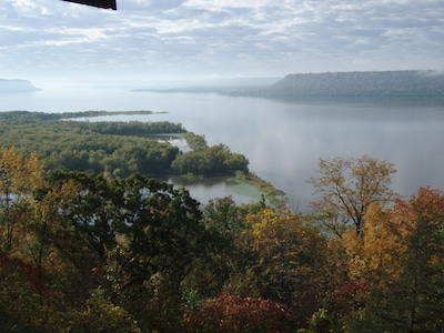 View From Recently Enlarged Deck, Lake Pepin.