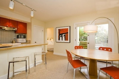 Ample space for dining, relaxing and working, if necessary.