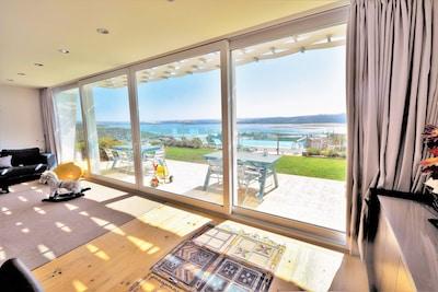 Living room sun terrace, overlooking superb views