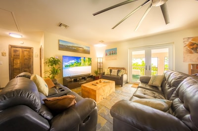 Cozy Living Room with Satellite TV