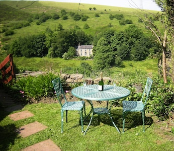 Great hillside location  with private garden
