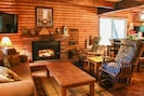 Living Room with Fire Place, Large Screen HD TV & Free High Speed Secure WI-FI