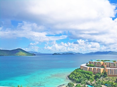 Spectacular down island views of St John and the British Virgin Islands!