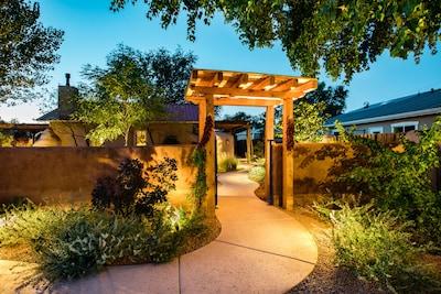 The magic of the Casa La Huerta private gardens comes alive at night!
