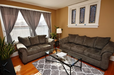 """Living Room: 43"""" TV, Cable, DVD Player and Board/Card Games"""