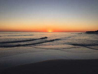 December sunset view