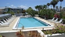 Large swimming pool with lots of deck to lay out when you come back from beach
