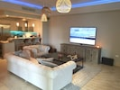 Family Room and Media Center Area