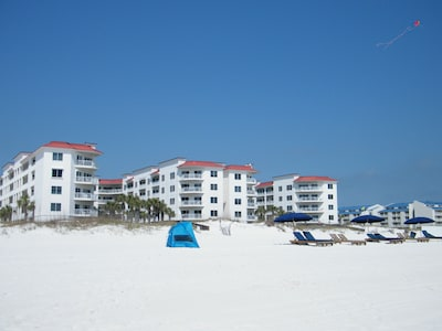 Come and enjoy the white sands on the Gulf Coast.