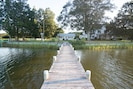 View from the dock of the part of the property