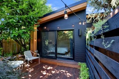 fully private and lovely guest home with private deck and dimmable lights