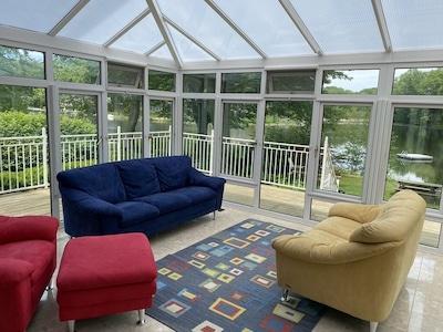 Glass Room Overlooking Lake