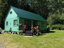 Comfortable older cabin in the middle of 26 fabulous forested acres.