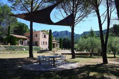Maison d 'hôtes la Bastide de la Provence verte, au coeur de  2 hectares arborés