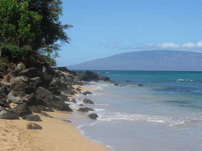 Kahana Beach with a view of Lanai