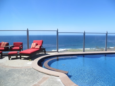 View of the ocean from the swimming pool