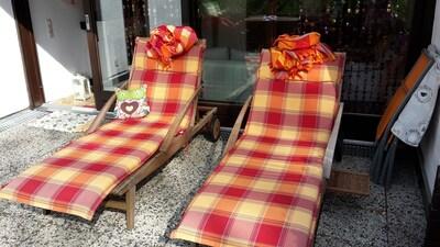 Mit Decken auch zu kälterer Jahreszeit   überdacht und windgeschützt zu nutzen