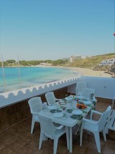 Playa Arenal d'en Castell, Mercadal, Balearic Islands, Spain