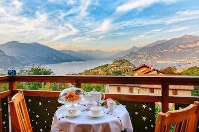 BELLAGIO maison individuelle avec jardin, barbecue, vue magnifique sur le lac, un parking privé