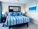 Enjoy a luxurious night sleep on high end linens.