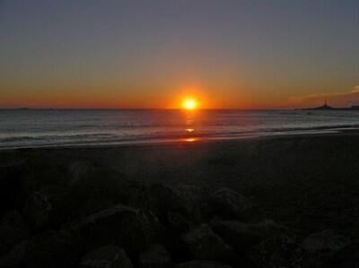 Sonnenaufgang am Mittelmeer